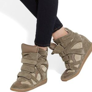 Isabel Marant Wedge Sneakers - Taupe